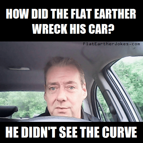 Funny Flatearther Curve